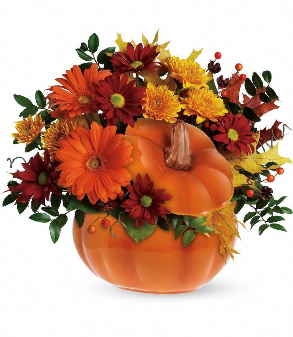 Country Pumpkin Floral Bouquet Same Day Delivery Cincinnati