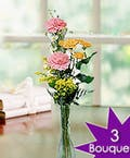 Three Vases - Thanks for all you do bouquets