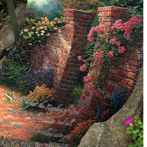 Thomas Kinkade™ Rose Garden Throw