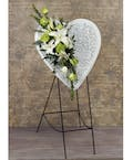 White Heart Easel