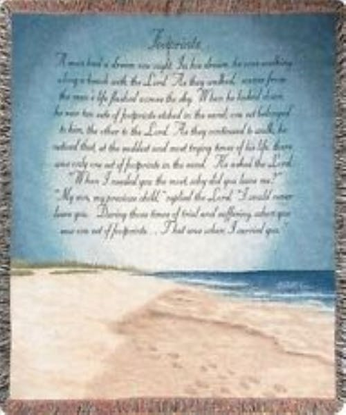 Footprints in the Sand Afghan Throw