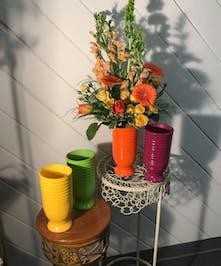 Colorful Arrangements in our Ceramic Vases