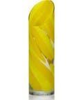 """Mikasa Rockswirl Yellow Swirl Vase, 13"""""""
