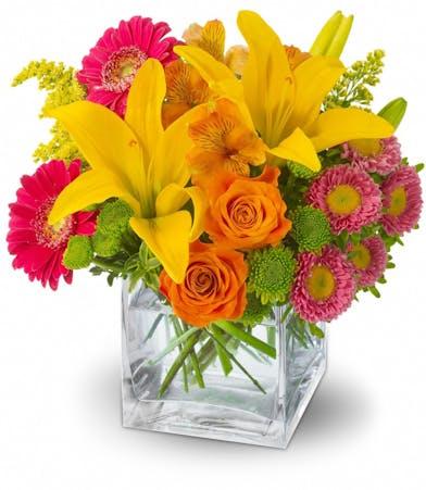 Summertime Splash Floral Bouquet - Adrian Durban Florist