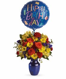 Balloon & Flowers Bouquet Cincinnati (OH) Same-day Delivery