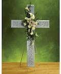 White Sympathy Cross Easel