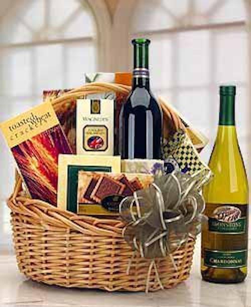 Basket full of Gourmet Goodies & Wine!