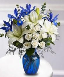 Stunning Blue and White Bouquet