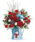 Vintage Frosty Kettle Bouquet