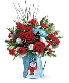 Vintage Frosty Kettle Bouquet
