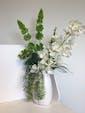 Tall Vase w/Orchid Stem, Belles of Ireland