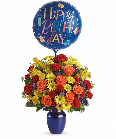 NOTE Flowers And Balloon May Vary Seasonally We Will Substitute With Similar If Needed